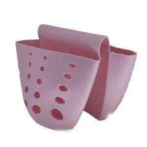 Πλαστική Θήκη για Σφουγγάρι Διπλή  Ροζ