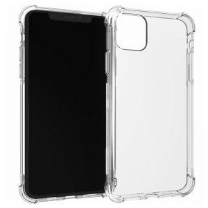 θήκη Σιλικόνης  Διάφανη 1.5mm με Ενίσχυση για iPhone 11 Pro Max