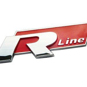 Σήμα VW R Line Μεταλλικό Κόκκινο Αυτοκόλλητο