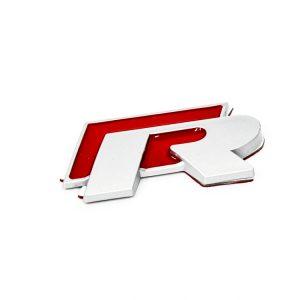 Σήμα VW R  Μεταλλικό Κόκκινο Αυτοκόλλητο