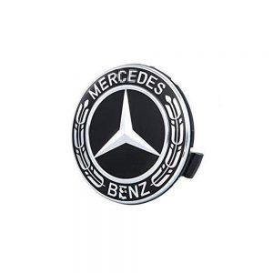 Mercedes Καπάκι Ζαντών Μαύρο – Ασημί 7.5cm