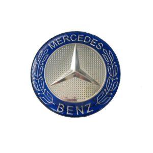 Mercedes Καπάκι Ζαντας Μπλέ – Ασημί 7.5cm 1 Τεμάχιο