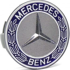 Mercedes Καπάκι Ζαντών Μπλέ Σκούρο – Ασημί 7.5cm