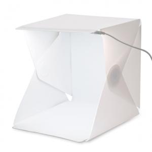 Mini Φωτογραφικό Αναδιπλούμενο Photo Studio με LED Φωτισμό και δυο Backgrounds 22cm*23cm*24cm