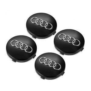 Καπάκια Ζάντας για Audi 5.9cm Μαύρο 4 Τεμάχια