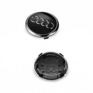 Καπάκι Ζάντας για Audi 6.9cm Μαύρο