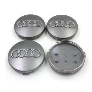 Καπάκια Ζάντας για Audi 5.9cm Γκρι 4 Τεμάχια
