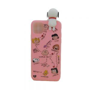Θήκη Σιλικόνης Ροζ Snoopy για iPhone 11 Pro Max