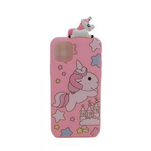 Θήκη Σιλικόνης Ροζ Unicorn για iPhone 11