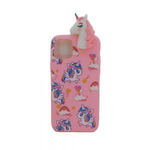 Θήκη Σιλικόνης Ροζ Unicorn Design 2 για iPhone 11