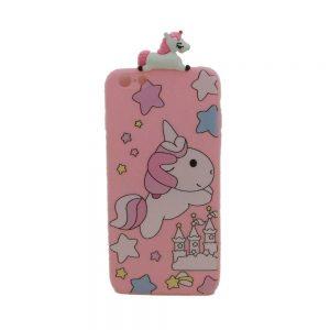 Θήκη Σιλικόνης Ροζ Unicorn iPhone 6 Plus