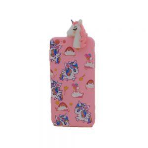 Θήκη Σιλικόνης Ροζ Unicorn Design 2 iPhone 6 Plus