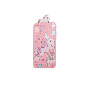 Θήκη Σιλικόνης Ροζ Unicorn iPhone X/XS