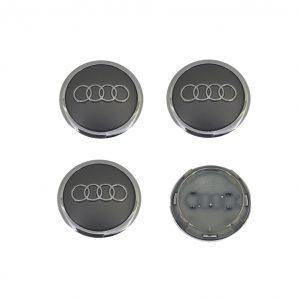 Καπάκια Ζάντας για Audi 6.9cm Γκρι 4 Τεμάχια