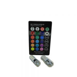 Ψείρες LED T10 RGB με Ασύρματο Τηλεχειριστήριο – 2 Τεμάχια