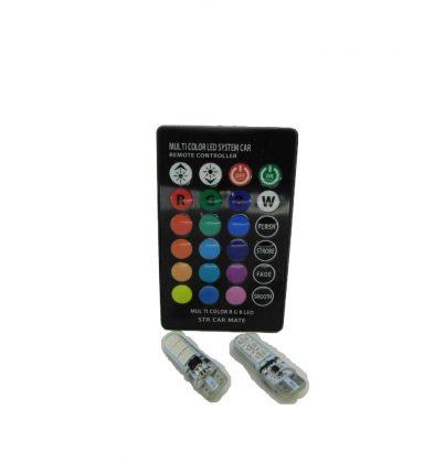 Ψείρες LED T10 RGB με Ασύρματο Τηλεχειριστήριο