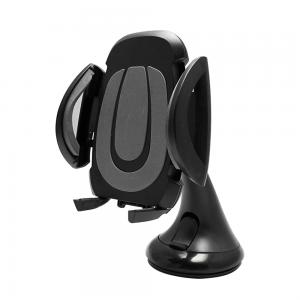 Βάση Κινητού για το Αυτοκίνητο με Βεντούζα 360º σε Μαύρο χρώμα