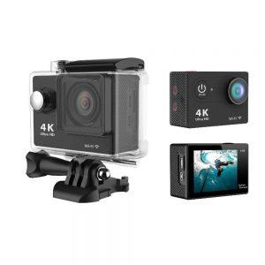 4K ULTRA HD Action Camera Αδιάβροχη με WiFi σε Μαύρο χρώμα