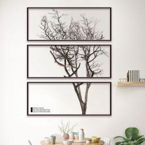 Αυτοκόλλητο Τοίχου 72cm x 57cm  Polyptych Tree