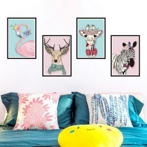 Αυτοκόλλητο Τοίχου Animal Collage 4 x 27.5cm  x 39.5cm