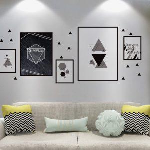 Αυτοκόλλητο Τοίχου Geometric Collage 50cm x 119cm