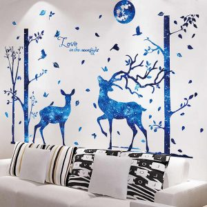 Αυτοκόλλητο Τοίχου Moonlight Love 82cm x 120cm  Μπλε