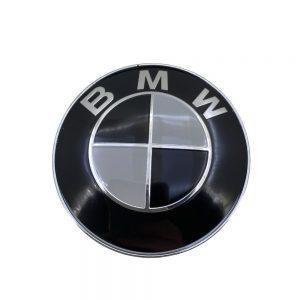 Σήμα BMW Μαύρο – Άσπρο για Καπό/Πορτ Μπαγκάζ 8.2cm