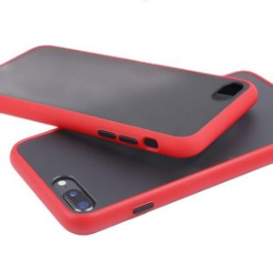 Θήκη Σιλικόνης για iPhone 7/8 Plus Κόκκινη με Ενίσχυση