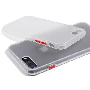 Θήκη Σιλικόνης για iPhone 7/8 Plus Διάφανη με Ενίσχυση