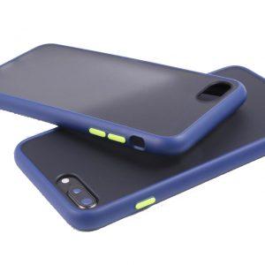 Θήκη Σιλικόνης για iPhone 7/8 Plus Μπλε με Ενίσχυση