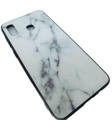 Πλαστική Θήκη για Samsung A20/A30 Μάρμαρο Άσπρη