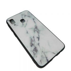 Πλαστική Θήκη για Samsung A40 Μάρμαρο Άσπρη