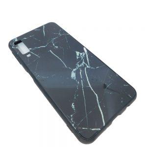 Πλαστική Θήκη για Samsung A750 / A7 2018 Μάρμαρο Μαύρη