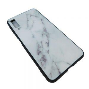 Πλαστική Θήκη για Samsung A750 / A7 2018 Μάρμαρο Άσπρη