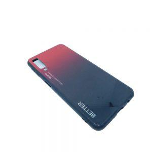 Πλαστική Θήκη για Samsung A7 2018 / A750 Μαύρο/Κόκκινο