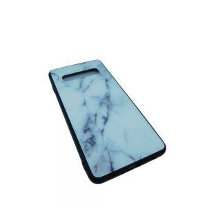 Πλαστική Θήκη για Samsung Galaxy S10 Μάρμαρο Άσπρη