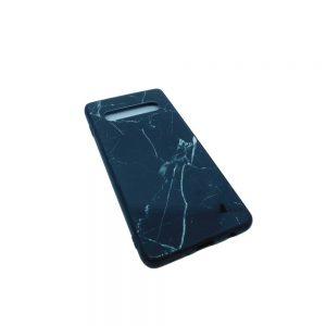 Πλαστική Θήκη για Samsung Galaxy S10 Plus Μάρμαρο Μαύρο
