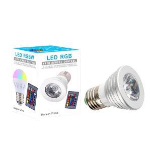 LED RGBW BULB  GU-10 Σποτ με Χειριστήριο 220V