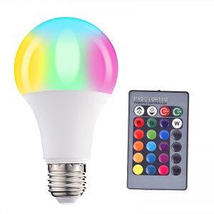 LED RGBW BULB E27 με Χειριστήριο 220V