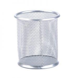 Μεταλλική Μολυβοθήκη Διάτρητη Ασημί PencilBox123