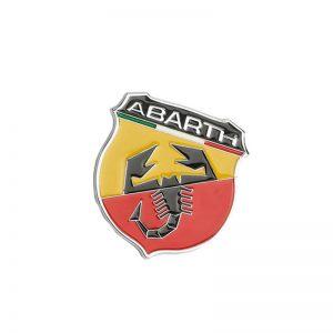 Μεταλλικό Αυτοκόλλητο Σήμα Abarth 6cm x 5.9cm