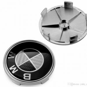 BMW Carbon Μαύρο Καπάκι Ζάντας 6.8cm