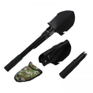2σε1 Φορητό Φτυάρι και Σκαλιστήρι Χειρός με Θήκη Μαύρο Ματ DDX-SmartGardenTool