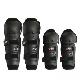 Σετ Προστατευτικά για Αγκώνα & Γονάτου Pro-Biker σε Μαύρο χρώμα