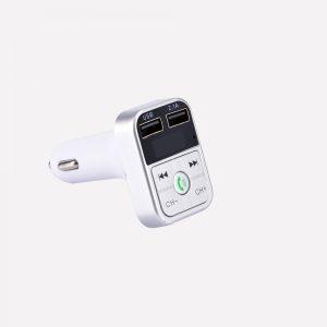 Bluetooth FM Transmitter Ασημί με 2 Θήρες USB DDX B2B3