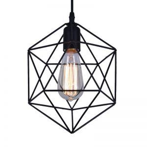 Φωτιστικό Οροφής DDX Γεωμετρικό Πολύγωνο Μαύρο 21cm*26cm