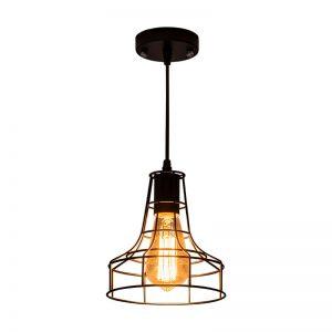 Φωτιστικό Οροφής DDX Bell Μαύρο 17cm*18cm