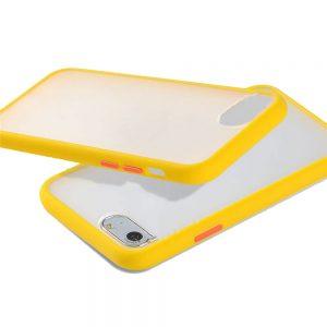Θήκη Σιλικόνης για iPhone 7/8/SE 2020 Κίτρινη με Ενίσχυση