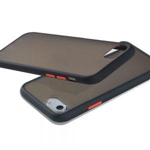 Θήκη Σιλικόνης για iPhone 7/8/SE 2020 Μαύρη με Ενίσχυση