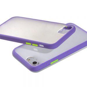 Θήκη Σιλικόνης για iPhone 7/8 Plus Μωβ με Ενίσχυση
